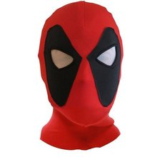 Halloween Deadpool mask Cosplay Costume Lycra Spandex Mask Red Red Adult sizes Party supplies