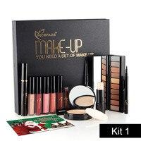 Best Christmas Gift 6 In 1 Makup Tool Kit Make Up Cosmetics Including Eyeshadow Eyeliner Mascara