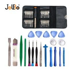 Jelbo 45 em 1 kit de ferramentas de reparo do telefone móvel para iphone ipad xiaomi tablet pc pequenos brinquedos conjunto ferramentas manuais pry abertura chave fenda