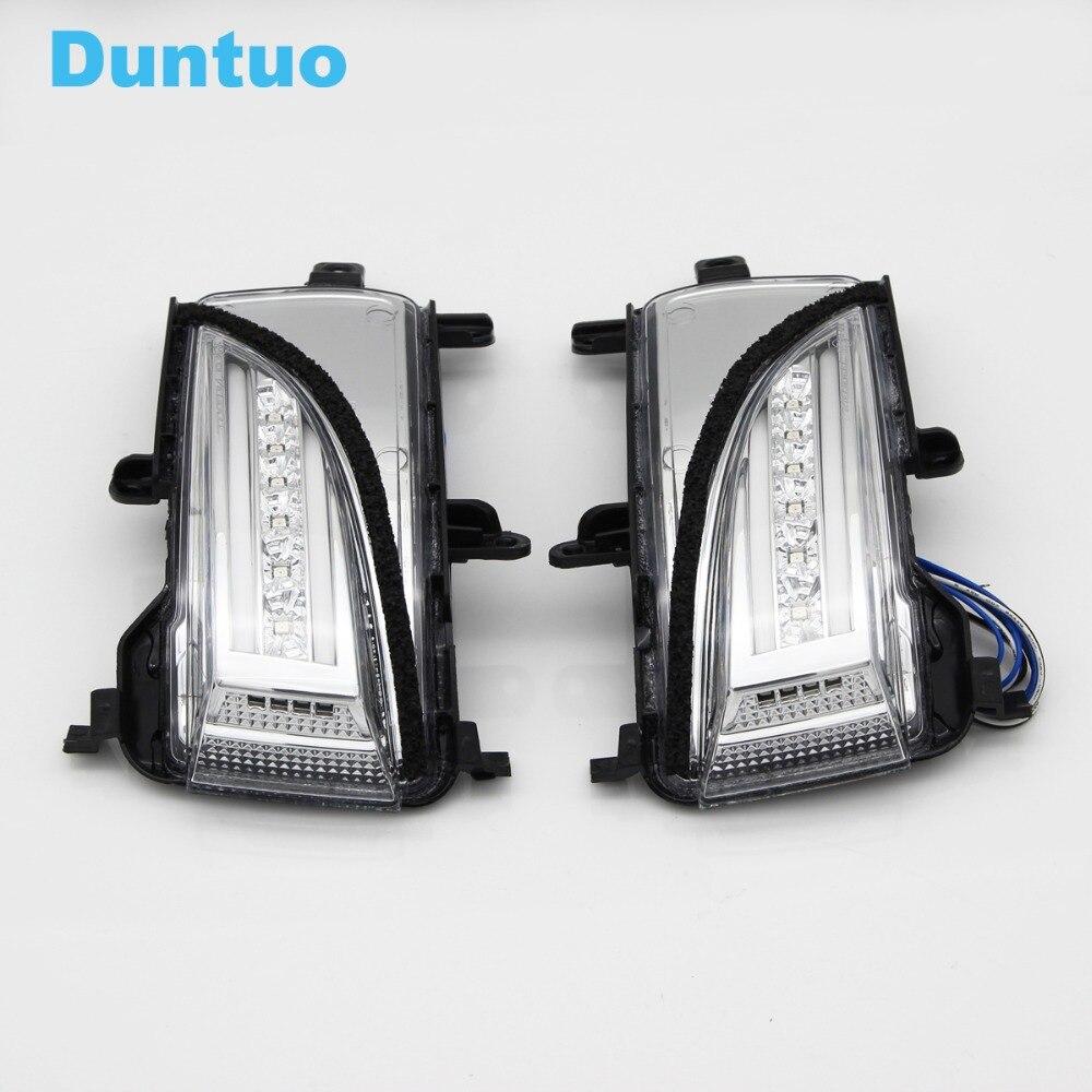 Светодио дный Зеркало заднего вида сигнал поворота света ходовые двери Шаг Первый Лампа для Infinti QX56 2010 2013 QX80 2013 2018
