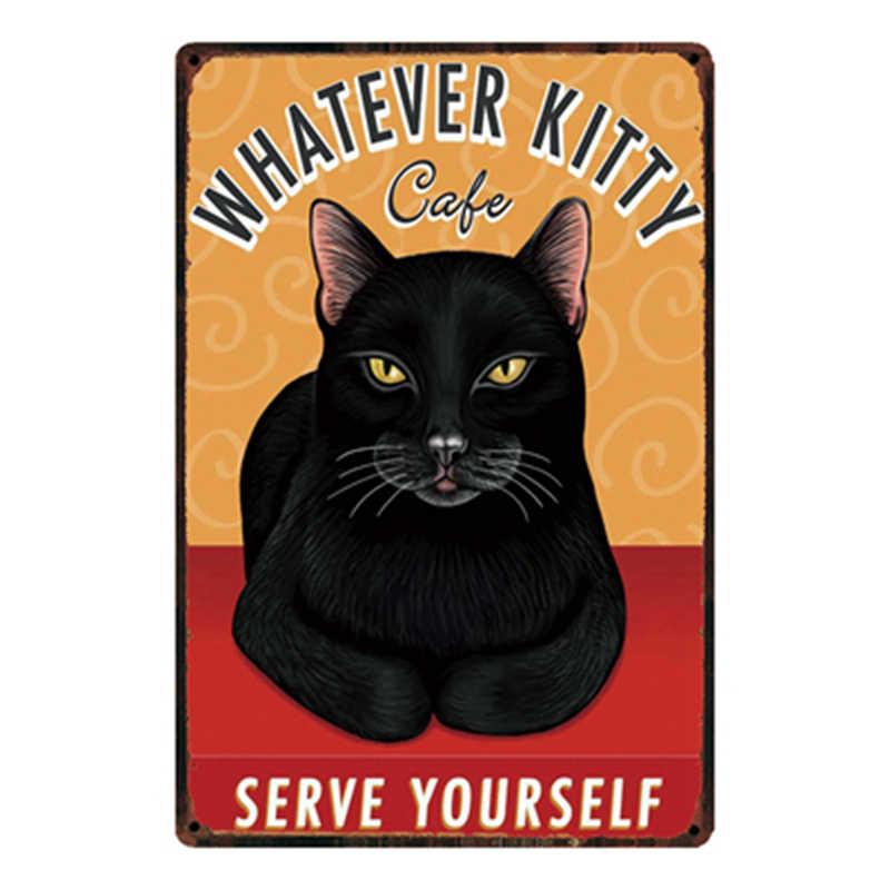 [Kelly66] 고양이 사랑 내 고양이 금속 로그인 틴 포스터 홈 장식 바 벽 아트 그림 20*30 cm 크기 dy43