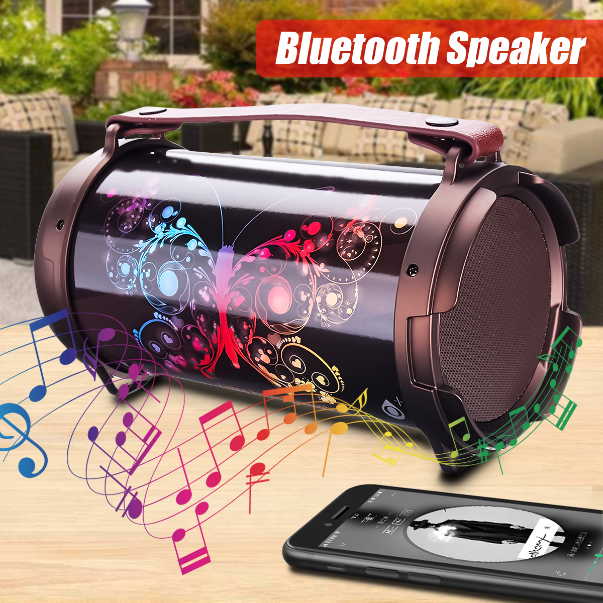 Portable Wireless Bluetooth Speaker 12W Loudspeakers Stereo FM Radio Speaker Support USB AUX TF Card Outdoor Party Music Player стоимость