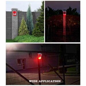 Image 5 - Новый инфракрасный датчик движения на солнечной батарее, стробоскосветильник с сиреной 110 дБ для домашнего сада, сада, навес, автофургон, охранная сигнализация