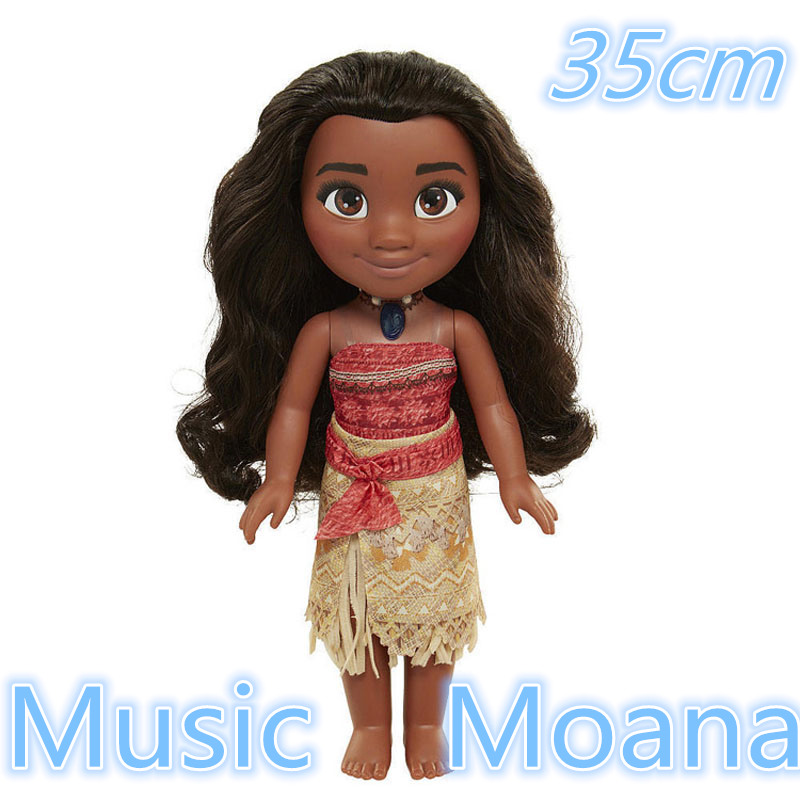 35cm Moana Figures Cartoon Music Moana Talks Sing How Far Ill Go Light and music toy Soft Stuffed Dolls Gift Toys for children ...
