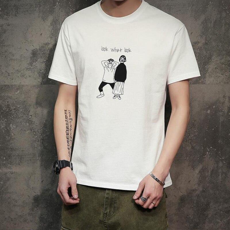 New Men Women T-Shirt Summer Style Funny Print Men's Tshirt Homme Cotton Cartoon Look What Look T-Shirt Plus size M 4XL 5XL