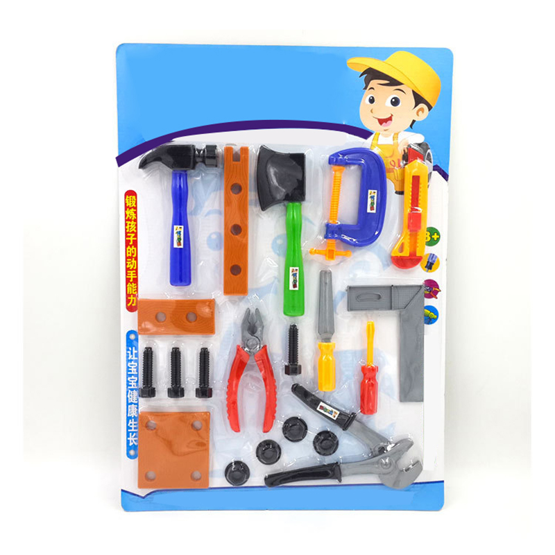 construction tools workshop tools toys for boys girls Hammer screwdriver screwdriver saw hammer ax knife ruler toy chainsaw toys in Tool Toys from Toys Hobbies