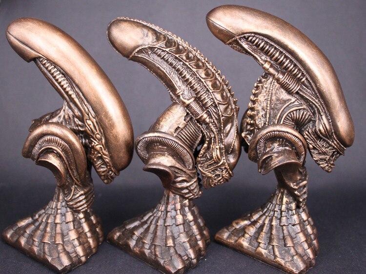 High Quality 3pcs/set Alien Warrior Bust Resin Statue Model Sculpture Crafts Recast 12cm height