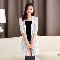 New Fashion Design Summer Women S Hollowed Out Lace Outwear Cardigan Floral Lace Shirt Open Front