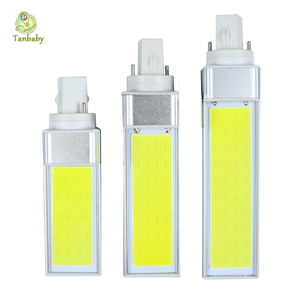 Tanbaby <font><b>G24</b></font> <font><b>COB</b></font> <font><b>led</b></font> Corn Bulb 10W 15W 20W Ulter bright White <font><b>LED</b></font> light lamps Horizontal Spotlight 180 degree energy saving bulb