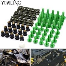 40 PCS รถจักรยานยนต์ fairing สกรูกระจกสกรูสำหรับ KAWASAKI zx6r zx636 zx10r z1000 z750r z1000sx ninja 300 250 1000