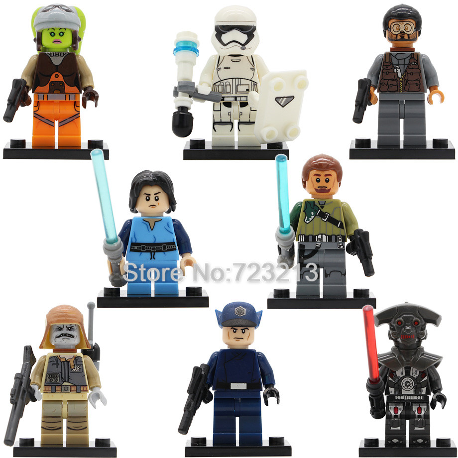 Star Wars PG8066 Figure Imperial Inquisitor Hera Syndulla Kanan Jarrus Bao Bodhi Rook Boba Fett Building Blocks Model Toys цена