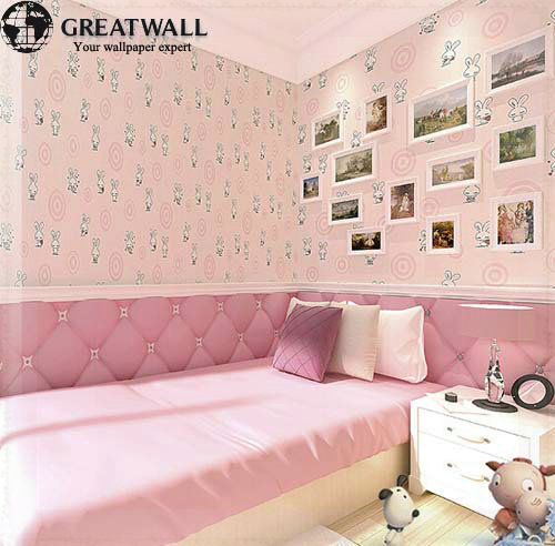great wall kinder tapeten m dchen und jungen schlafzimmer tapeten wandbild animal print 3 farben. Black Bedroom Furniture Sets. Home Design Ideas