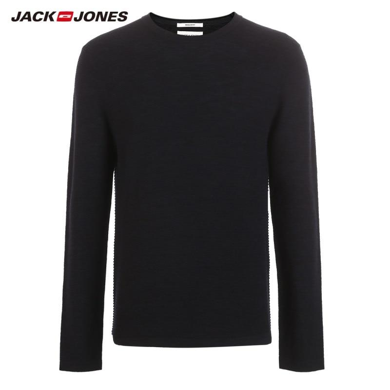 JackJones Men 39 s Slim Fit woolen sweater casual Long Sleeve Pullover Men 39 s Top 218324521 in Pullovers from Men 39 s Clothing