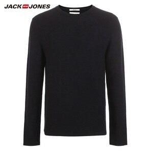 Image 1 - JackJones Mens Slim Fit woolen sweater casual Long Sleeve Pullover Mens Top 218324521