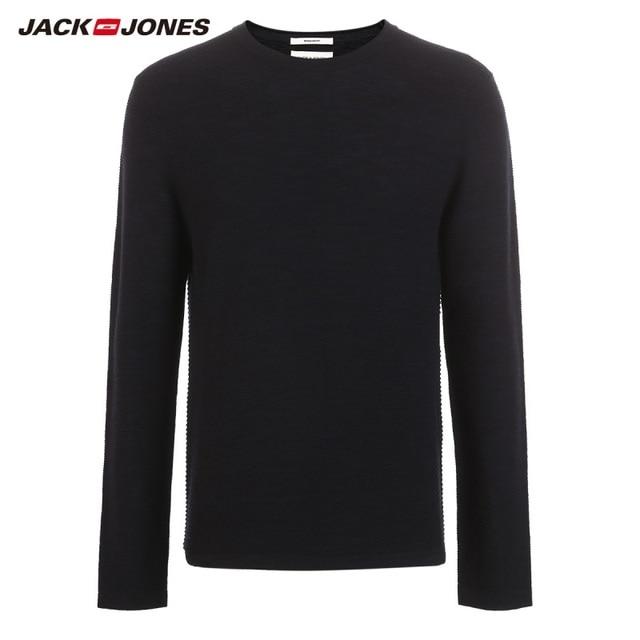JackJones גברים של Slim Fit צמר סוודר מזדמן ארוך שרוול סוודר גברים של למעלה 218324521