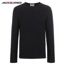 JackJones erkek Slim Fit yün kazak casual uzun kollu kazak erkek üst 218324521