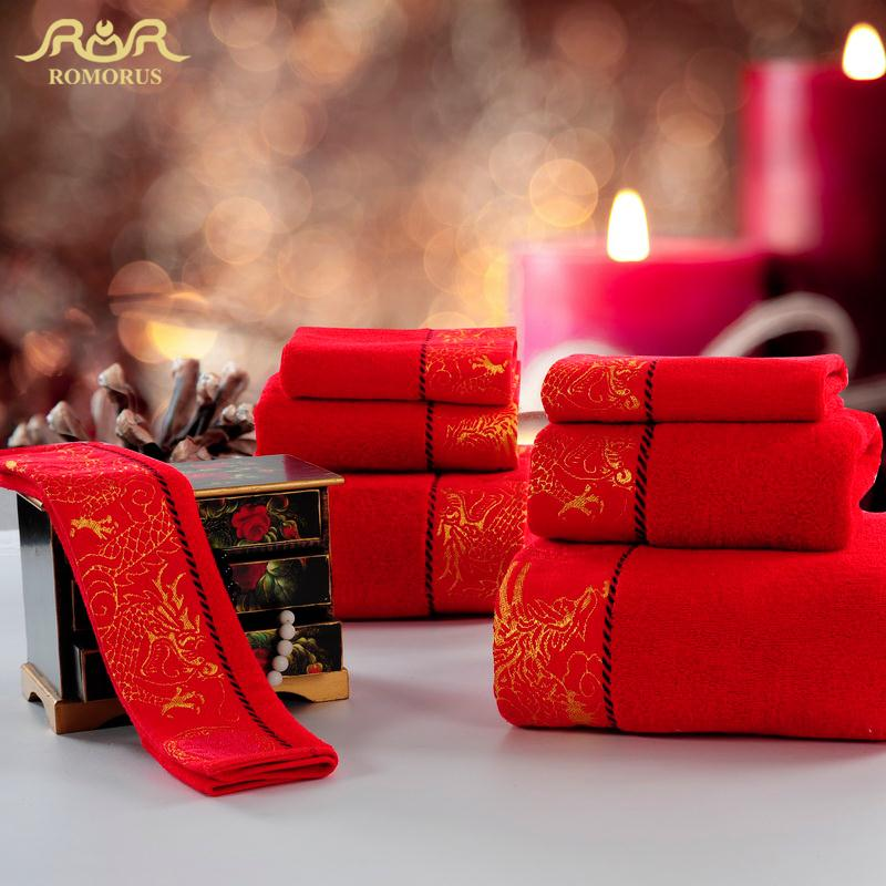 ROMORUS Designer Red Wedding Luxury Collection Towels Set Top Quality  Cotton Bath Hotel Beach. Compare Prices on Luxury Spa Towels  Online Shopping Buy Low Price