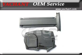 Shipped Carbon Fiber Trim Fit For 06-07 EVO 9 Cam & Engine Plug Cover 2units & 96-05 EVO 4-8 4G63 CT9A Engine Cam Cover 1unit