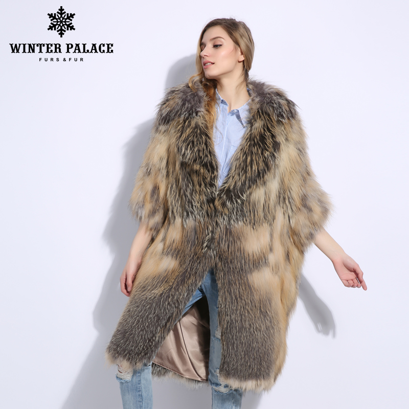 Fashion Luxurious Latest Color Women Natural Real Fox Fur Coat Comfortable Soft Fox Fur Knitted Real Fur Coat Warm Grace Jacket