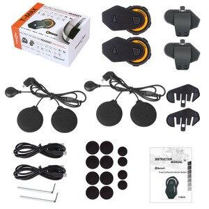 Image 5 - 2pcs FreedConn Original T MAX Moto Helmet Bluetooth Headset 6 riders Talking Motorcycle Intercom 1000m FM Radio Bluetooth 4.1