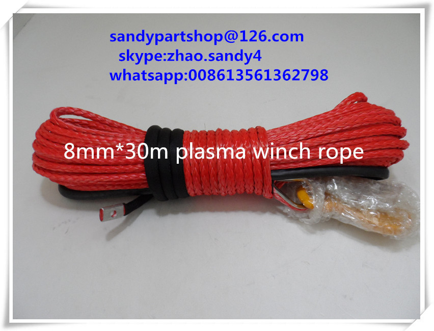 free shipping 5/16*100ft  synthetic winch rope for 4x4,offroad accessories,winch cable free shipping yacht winch boat winch barge winch 12v 2000lb electric winch