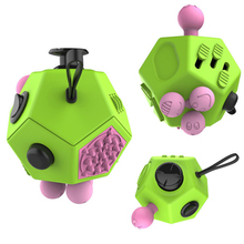 12-Side Sided Fidget Cube Desk Toys Stress Anxiety Relief Anti Focus Puzzle Magic Cobe EDC Focus ADHD Autism Funny Adult Gifts
