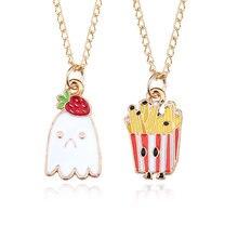 Креативный кулон ожерелье Красочный с клубничным пудингом французская
