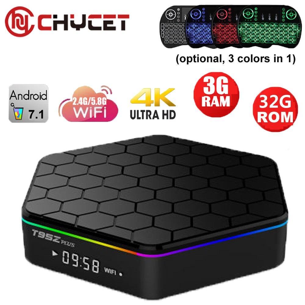 Chycet T95Z Plus Amlogic S912 Octa Core Tv box Android 7.1 tv box 3G 32G Dual WiFi 1000M IPTV 3D 4K Media player Set top box