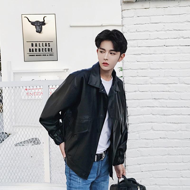 Men S Korean Fasion Winter: 2017 Men's Fashion New Korean Winter Fashion Leather
