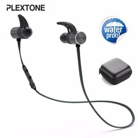 Plextone BX343 Wireless Bluetooth IPX5 Waterproof Earbuds Magnetic Headset Earphones With Microphone For Phone Sport