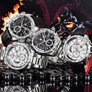 Image 3 - PAGANI עיצוב 2020 חדש למעלה קוורץ שעונים גברים ספורט לוח שנה עמיד למים נירוסטה צבאי שעון Relogio masculino