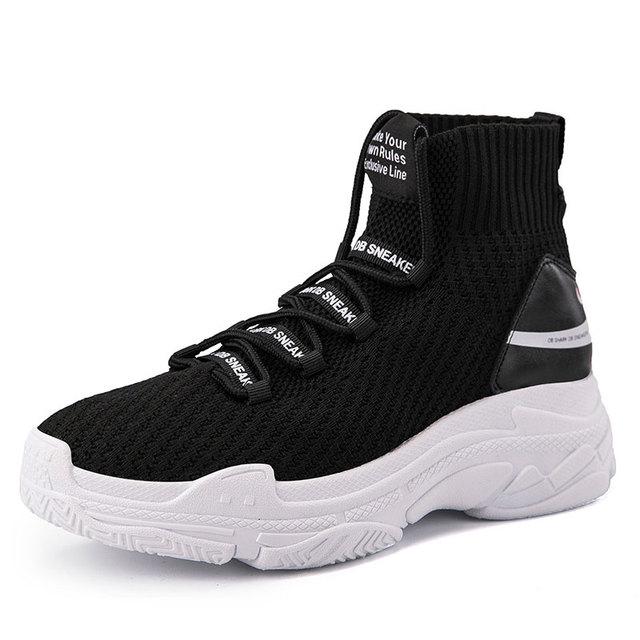 Кроссовки с акулой; женская и мужская вязаная верхняя дышащая Спортивная обувь; мужские ботинки с массивным каблуком; высокие кроссовки для бега; мужские и женские кроссовки; M