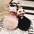 2016 New Cute KIKI Keychain Monchichi dolls sleutelhanger Pompom llavero breloki Key Chain Ring Bag Ball Car Chaveiro Gift