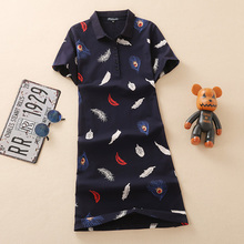 b53a902cda Baharcelin 4XL 5XL Embroidery Polo Casual Dresses De Festa Femme Summer  Tops Clothing One piece Dress