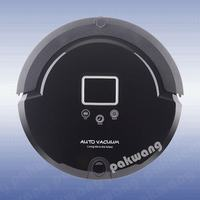 Pakwang A320 Automatic Robotic Vacuum Cleaner For Home With LCD Screen Remote Control Sterilization Function