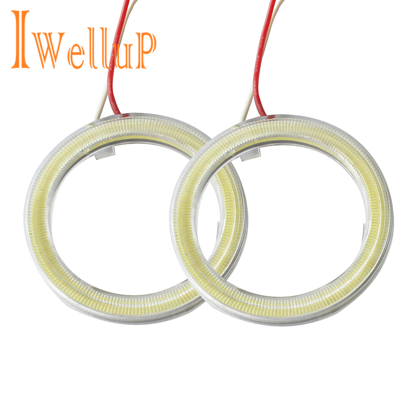 1 paar Auto Angel Eyes Led Auto Halo Ring Lichten Led Angel Eyes Koplamp voor Auto Auto Moto Bromfiets Scooter Motorfiets DC 12 V 3 W