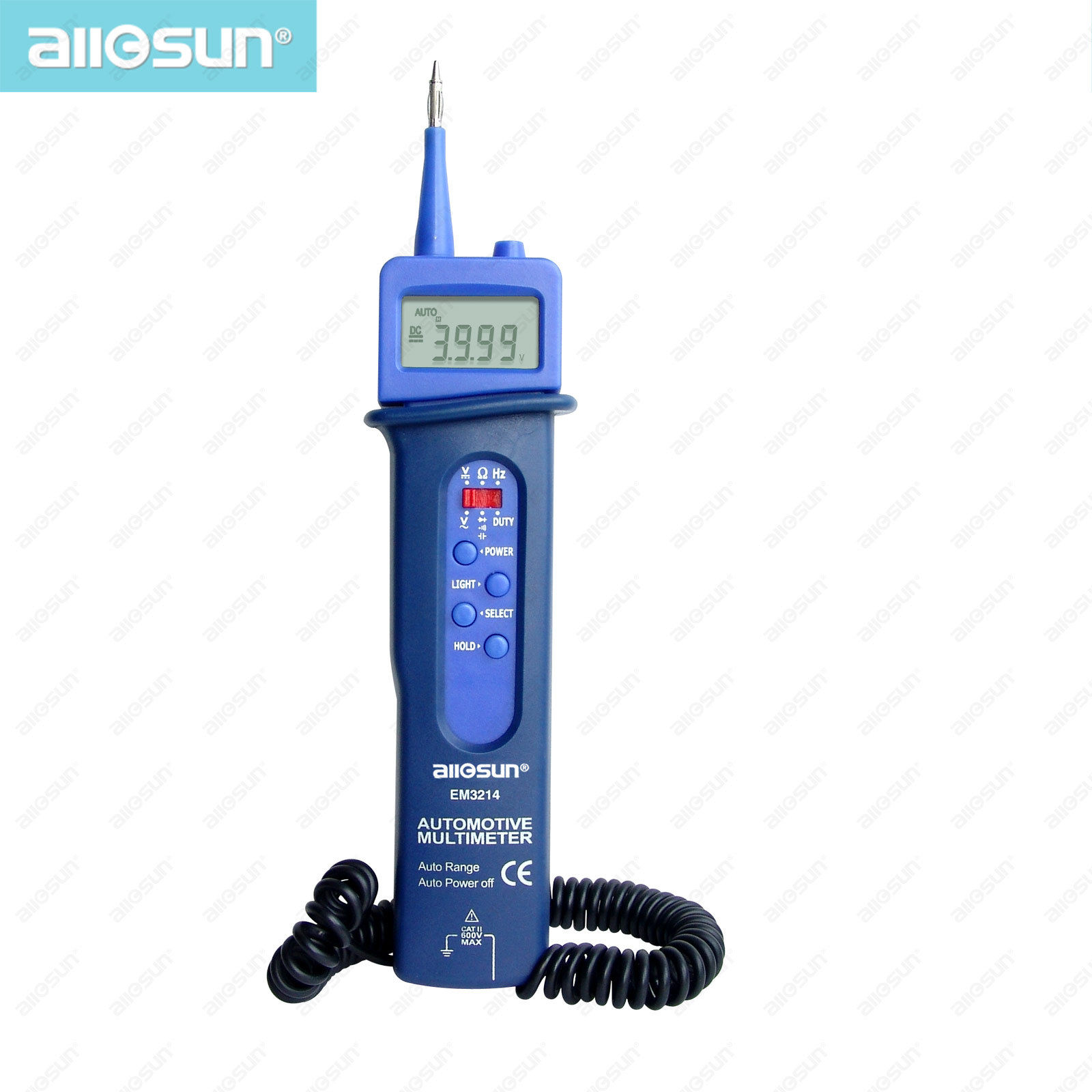 all-sun EM3214 Pen style automotive multimeter car application Voltage DC/AC digital multimeter frequency tester