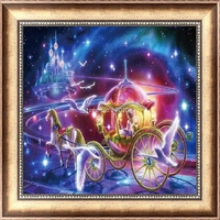 DIY 5D Diamond Switch Kit Embroidery Carriage & Beauty Painting Mosaic Needlework Cross Stitch Home Decor Craft 30*30cm H06