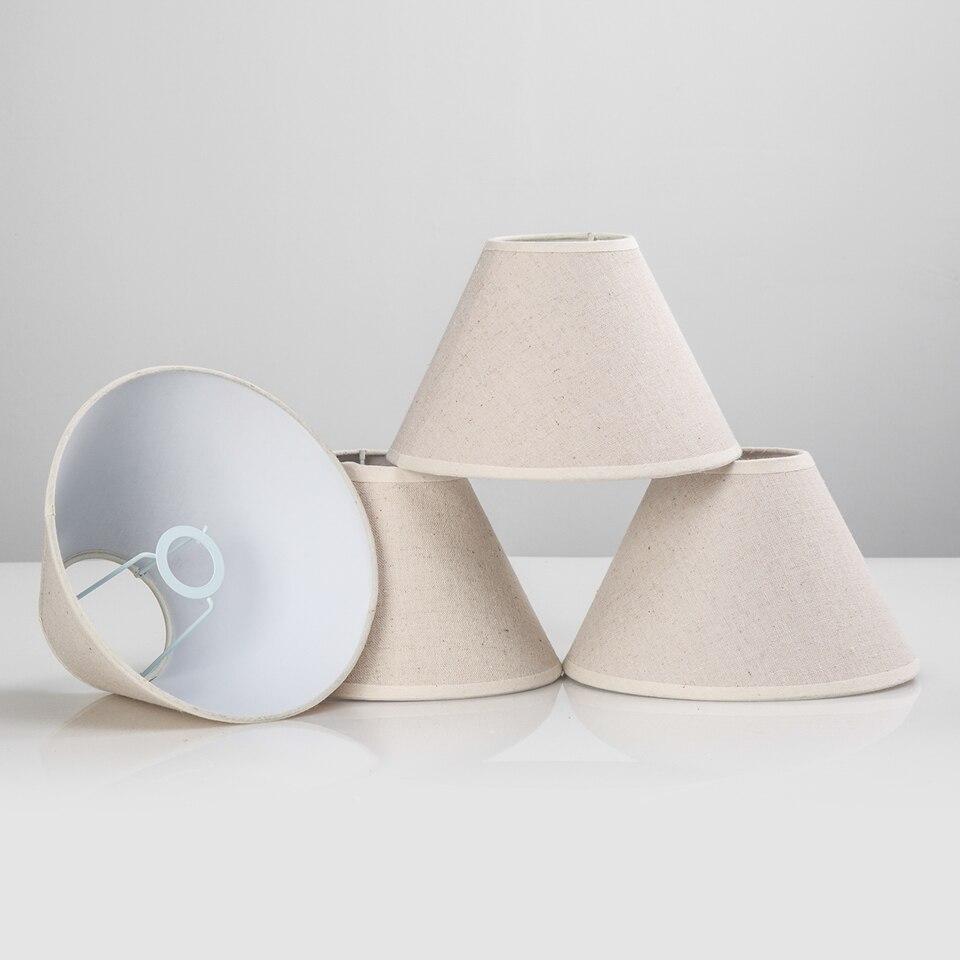 Mini lamp shades - E14 E12 Handmade Linen Lamp Shade For Wall Light Rustic Bedroom Bedside Mini Table Lamp Country
