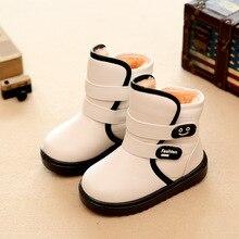 2016 nouveaux enfants de bottes de neige imperméables non-slip épais garder au chaud confortable garçons filles coton bottes chaussures mignonnes pour enfants