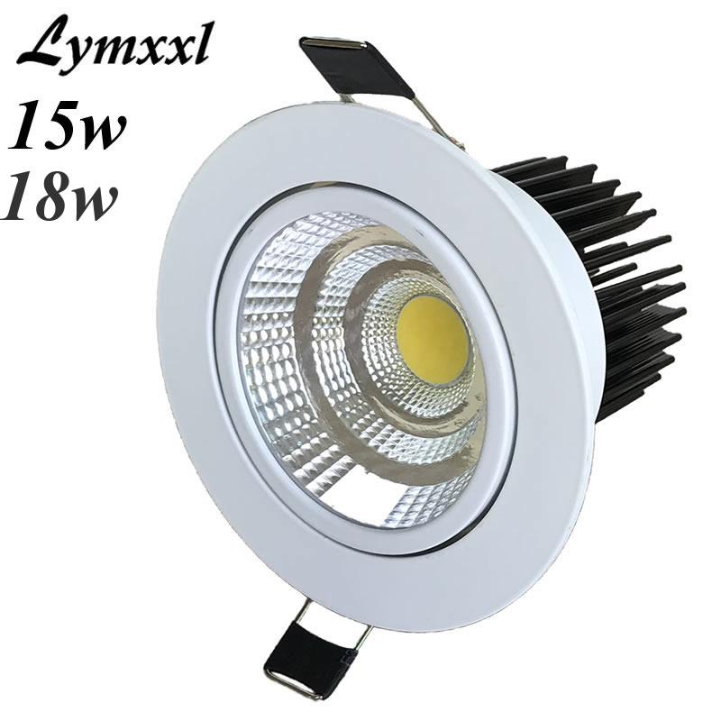 White Shell Recessed Led Down Lights Lamp Dimmable Led Cree Cob 10w 12w Led Cabinet Lamps Ac90-260v Or 12v Led Downlights Cri85 Downlights