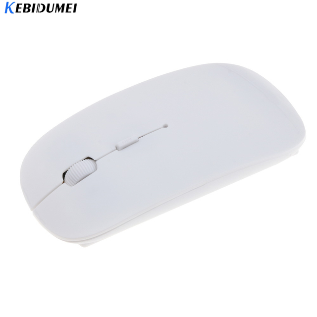 kebidumei Ultra Thin USB 2.4Ghz Wireless Mouse Optical Gaming Slim Receiver Computer For Apple Mac Laptop Power Switch Mice