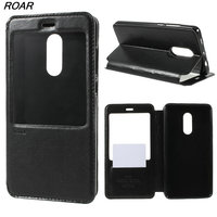 For Redmi Note 4X Case Original ROAR KOREA View Window PU Leather Cell Phone Case With