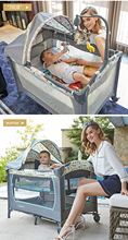valdera Multi-function folding baby bed Portable Crib Bedding Bed Crib for Cradle Bed New Fashion Light Weight Aluminum Pipe