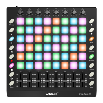 High quality MIDI Controller Disc Musical Instrument WORLDE ORCA PAD48 Portable Controller Keyboard 48 Drum Pads with USB Cable