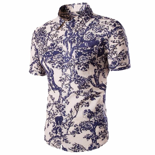 a4534cf57f6144 Qiyun. z Merk 2017 Kleding Gold Mens Shirt Mens ademend mannen casual shirt  Kleding Shirts