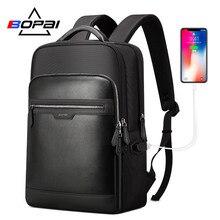 BOPAI Hidden Anti Theft Zipper Backpack for Men Business Student School Computer Male Backpacks Laptop