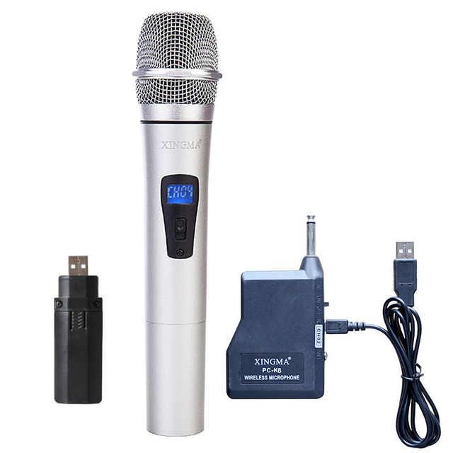 Professional Wireless Microphone With Receiver Handheld Microphone Performance Mic System For Karaoke Conference Guitar Player