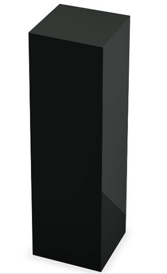 5 Sides Black acrylic sculpture pedestal,lucite console table5 Sides Black acrylic sculpture pedestal,lucite console table