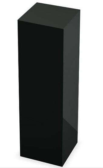 5 lados de escultura de acrílico preto, Console de mesa de acrílico